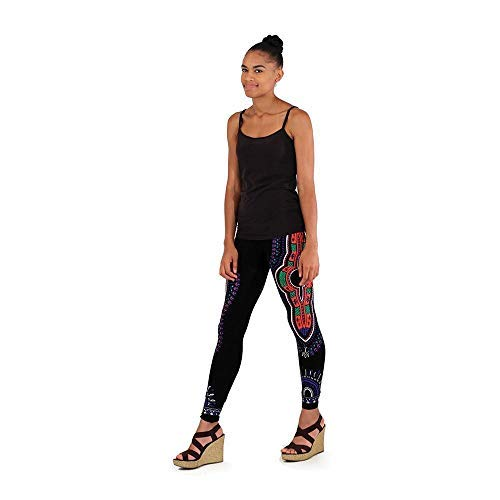ee6d29b5ef Amazon.com: Traditional Print #4 Black Leggings Unique, Ethnic ...