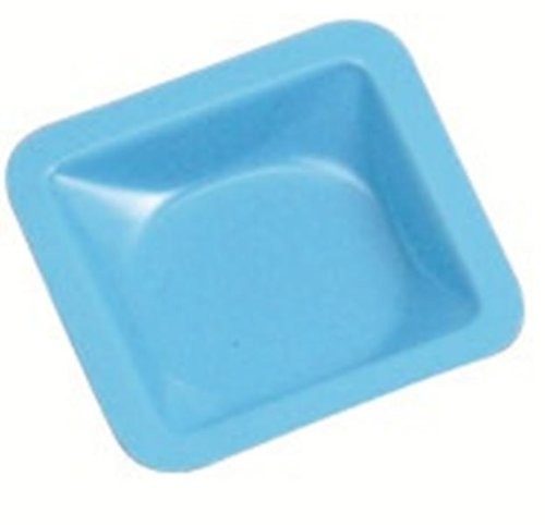 Heathrow Scientific HD1421A Standard Weighing Boat, Polystyrene, 46 mm Length x 46 mm Width x 8 mm Depth, Blue (Pack of 500) HS1421A