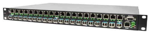 PHB-200M-AD - Gigabit 20 port SFP managed patching hub, 10/100/1000Base-TX to 100/1000Base-X SFP, SNMP, rack 19'', AC & DC48 power (SFPs are NOT included with the unit) by CTCUnion (Image #2)