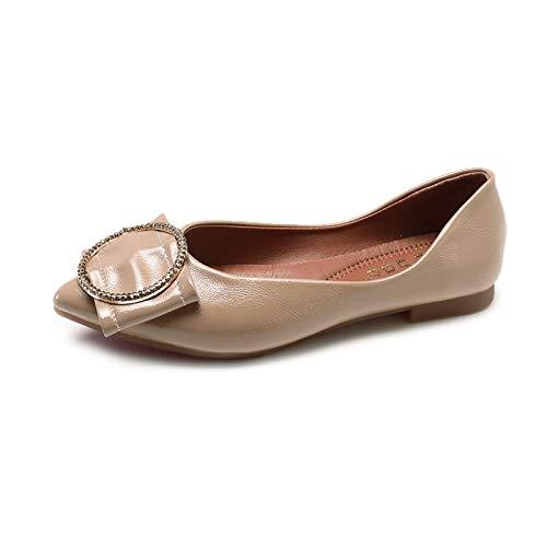 FLYRCX Metal Zapatos Hebilla Zapatos Suela Suave de señoras Zapatos de Boca Moda de cómodos de de de nbsp;cómodos Puntiagudos Trabajo nbsp; Planos Baja nbsp; B otoño y de Primavera EqEgrxwd