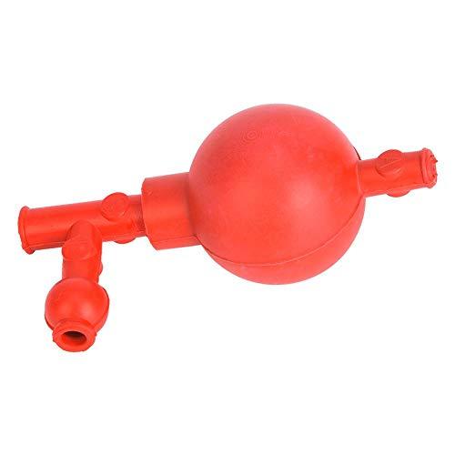 Laboratorio Bombilla de succi/ón de goma 3 aberturas Bola de pipeta cuantitativa segura Roja para laboratorios agr/ícolas industriales de minerales