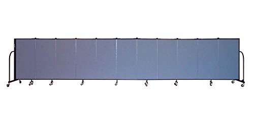 11 Panel Freestanding Partition (Freestanding 48 in. Portable Room Divider w 11 Panels (Lake Fabric))