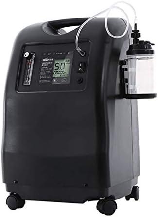 WuMin-酸素発生器 酸素発生器、ポータブルインテリジェントな在宅酸素マシン5Lの酸素マシンホーム高齢妊婦の学生 (Color : Black)
