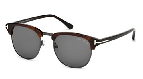 Tom Ford Henry FT0248 Sunglasses-52A Light Ruthenium/Havana (Gray - Havana Ford Glasses Tom