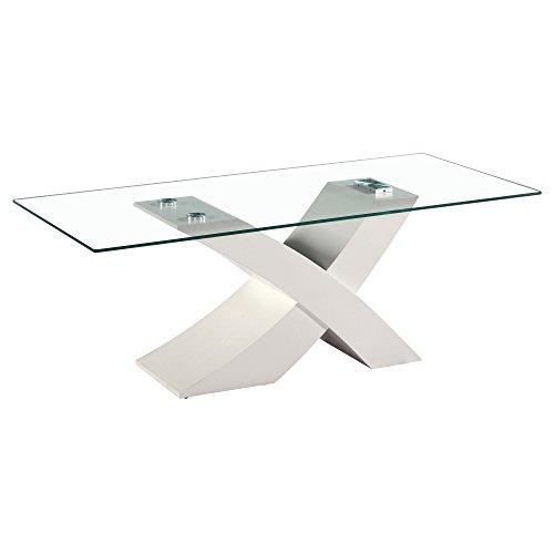 Fab Glass and Mirror Fgm-TL-14C18-1 Modern Coffee Dining Room Glass Table, White by Fab Glass and Mirror