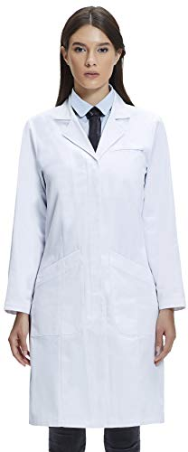 - Dr. James Women's Lab Coat, Classic Fit, 100% Cotton, White, 39 Inch Length DR3-US4