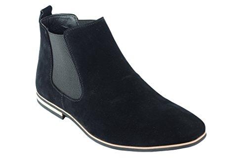 Da In Xposed Scamosciata Stivaletti Dealer Casual Smart Black Scarpe Italiano Pelle Stile Desert Mid Uomo Retro Caviglia gBt5qWxwn5