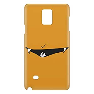 Loud Universe Samsung Galaxy Note 4 3D Wrap Around Smileys Print Cover - Yellow