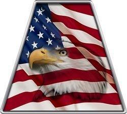 Amazoncom Reflective American Flag Eagle Firefighter Fire Helmet - Fire helmet decalsexclusive reflective helmet tetrahedron