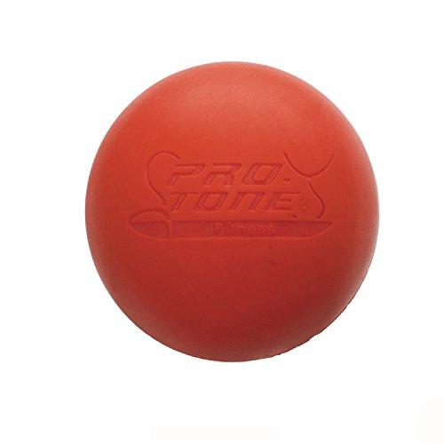 Demarkt Pelota de Lacrosse Sirve para Masajear Puntos de Presión Crossfit Terapias de Rehabilitación y Fisioterapia(rojo)