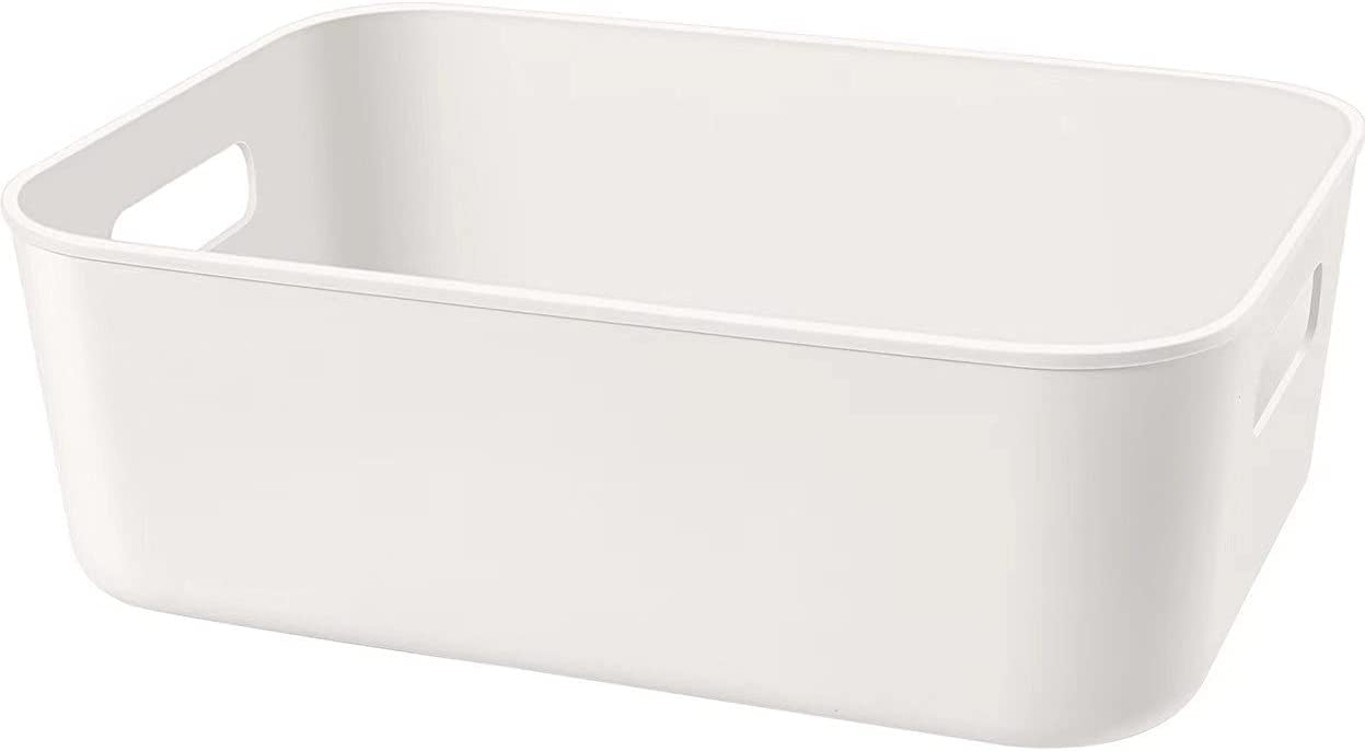 Amyup Set of 3 Plastic Storage Bin,for Cupboard,Countertops,Kitchen Pantry,Food Storage Containers Organizing,Toy Baskets,Under Sink Bathroom Organizer (3 Pack)