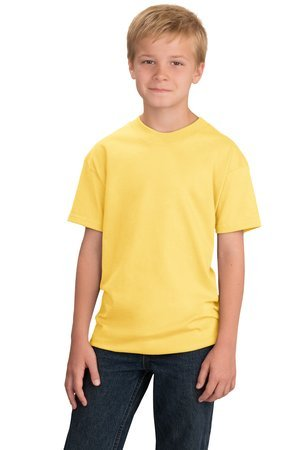 Port & Company - Youth Essential T-Shirt, PC61Y, Yellow, L