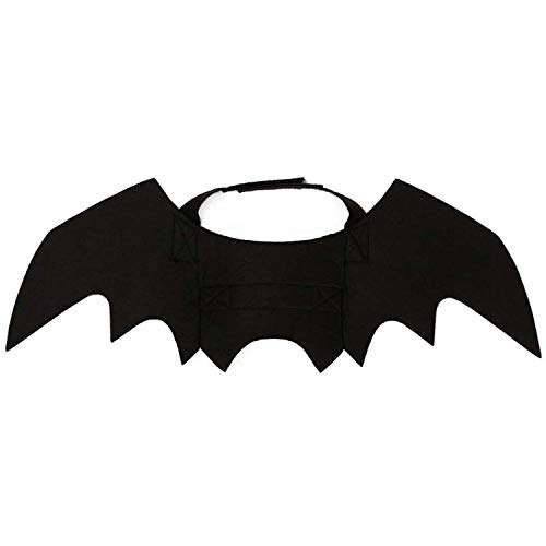 Halloween Bat Wing Cat Clothes Puppy Dogs Funny Costume Halloween Party Cat Clothes Supplies Pet Products,Negro,M]()