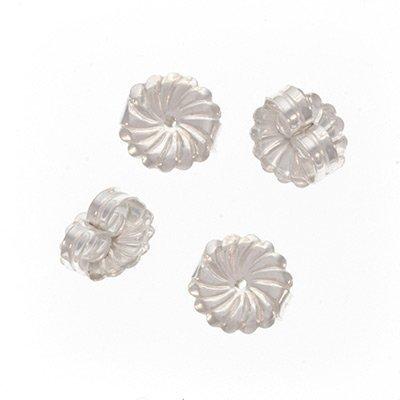 UnCommon Artistry Sterling Silver Large Fancy Earring Backs (Earnuts) (4) (Nose Pliers Standard Needle)