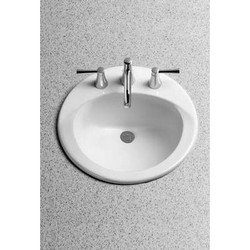 Toto LT512#51 Ultimate 19-Inch round Self Rimming Lavatory Sink, Ebony