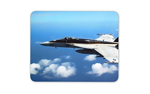 F18 Fighter Plane Mouse Mat Pad - Super Hornet Jet Airplane Gift Computer #13083 ()
