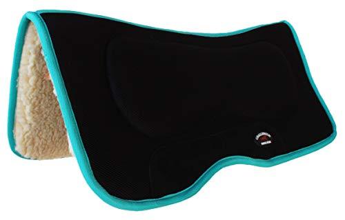 CHALLENGER Horse Saddle PAD Western Anti-Slip Memory Foam Fleece Turquoise 39131