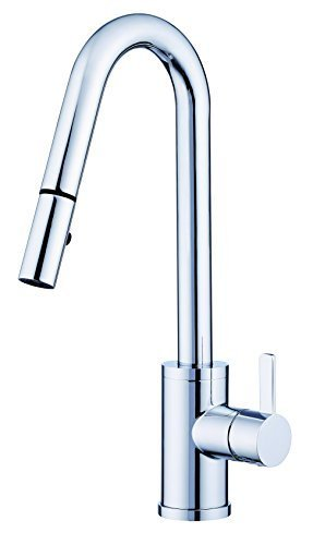 Danze D457030 Amalfi Snapback Single Handle Pull Down Kitchen Faucet, Chrome by Danze