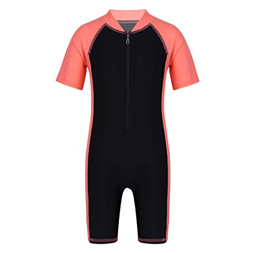 Agoky Sun Protective Baby Boys Girls Swimsuit Toddlers One Piece Swimwear with Hat Rash Guard UPF 50+ Swimming Costume Watermelon Red&Black 3-4]()