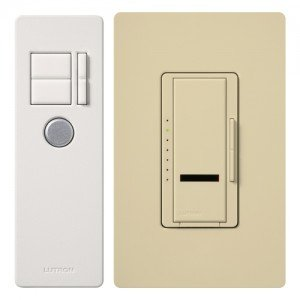 MIR-1000T-IV Dimmer Switch, 1000W 1-Pole Maestro IR Wireless Light Dimmer w/ Remote - Ivory-2PK