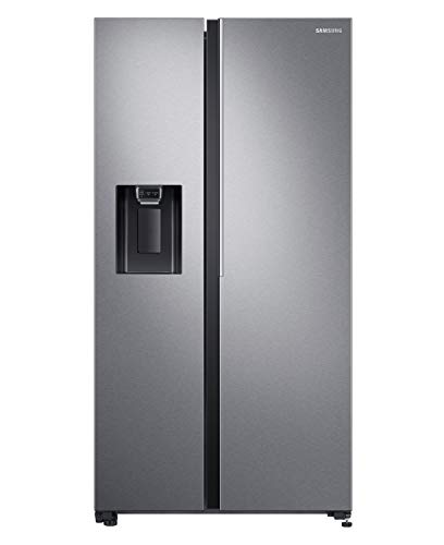 Samsung 676 L Side by Side Refrigerator (RS74R5101SL, Silver) 2021 July Ice crushing,ice cube,water, non plubing water dispencer with 4.5 ltr tank of water storage Colour - Silver Side by Side with SpaceMaxTM Technology Refrigerator