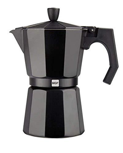 Magefesa 01PACFKEB06 – Cafetera modelo KENIA NOIR en aluminio esmaltador, 6 tazas