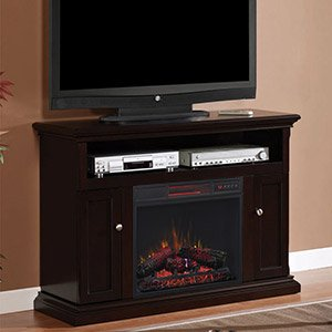 Classicflame Cannes Infrared Electric Fireplace Media Cabinet In Espresso 23mm378