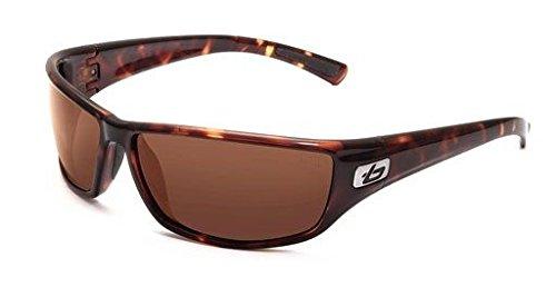 (Bolle Python Sunglasses, Dark Tortoise Frame, Polarized A-14 Lens, 11330)