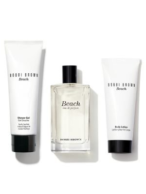Bobbi Brown Beach Escape 3 Piece Fragrance Set Eau De Parfum, Body Lotion, Shower Gel and Travel Bag 1.7 Ounce Each Item