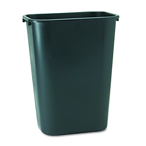 (Rubbermaid Commercial Products FG295700BLA Plastic Resin Deskside Wastebasket, 10 Gallon/41 Quart, Black)