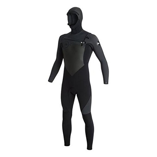 Quiksilver 5/4/3mm Syncro Series Chest Zip GBS Hooded Men's Full Wetsuits - Black/Jet Black/X-Large