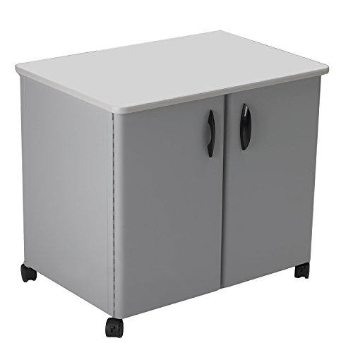 Mayline Mobile Utility Cabinet - Mayline Steel Utility Cabinets, 30 by 21 by 26-1/2-Inch, Gray/Gray