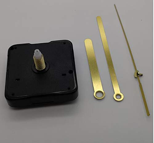 Maslin 100 Sets 28mm Shaft Household DIY Quartz Clock Movement Mechanism with Hook DIY Repair Parts with Gold Hands Clock with Hook