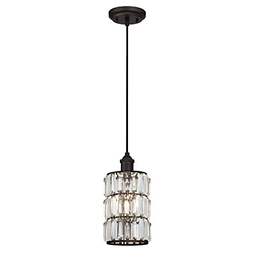 Bronze And Crystal Pendant Light