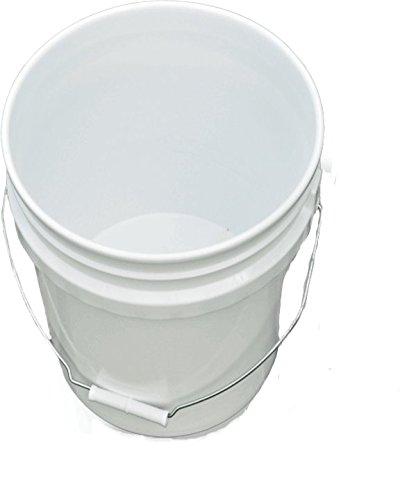 3.5 Gallon Plastic Buckets & Pails White - 3 Pack ()