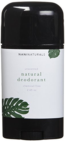 All-Natural, Unscented, Organic Deodorant For Men & Women-2.65oz-Aluminum-Free & Long-Lasting, nonGMO, Vegan, Gluten-Free. Made In USA