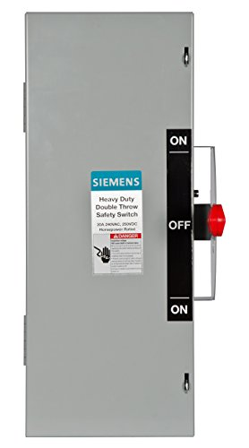 Double Wire Action (Siemens DTNF321 30-Amp 3 Pole 240-volt 3 Wire Non-Fused Double Throw Safety Switches)