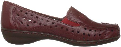 Lunar Flh309 - Zapatillas de casa de cuero mujer rojo - rojo
