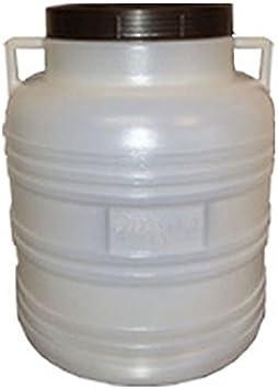 Kunststofffass 40 L weiss  mit Deckel