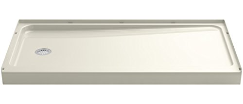 STERLING 72181110-96 Series 7128 Ensemble Shower Base with Left-Hand Drain, 60 x 32-Inch, Biscuit