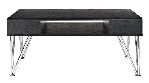 Altra Furniture Rade Coffee Table, Black, Oak and - Oval Coffee Table Oak