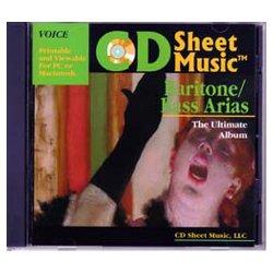 CD Sheet Music Ultimate Baritone/Bass Aria Album ()