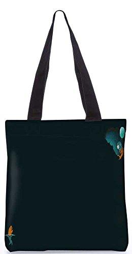 """Snoogg Astronaut Goldfisch Vektor-Einkaufstasche 13,5 X 15 In """"Shopping-Dienstprogramm Tragetasche Aus Polyester Canvas"""