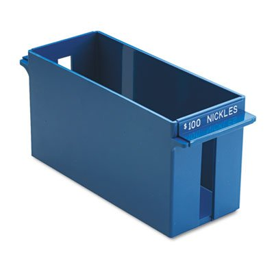 Porta-Count System Extra-Capacity Rolled Coin Plastic Storage Tray, Blue, Sold as 1 Each -
