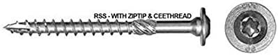 25 GRK Rugged Structural Screws 5//16x5-1//8 Pheinox Stainless Steel with Zip-Tip and CEE Thread