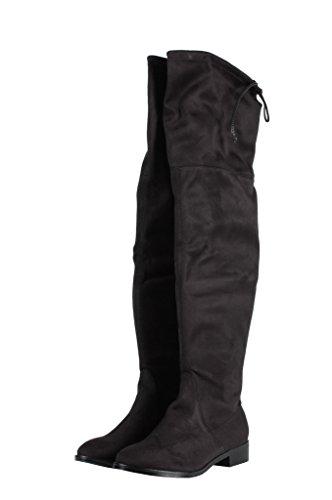 Steve Madden Odina Boots CAMOSCIO BLACK–Botines negros negro