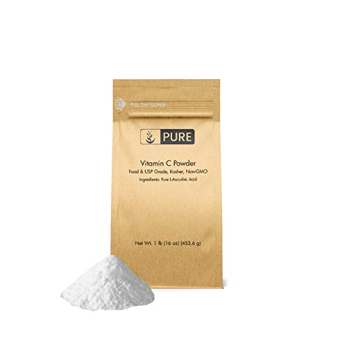 Acid Powder Ascorbic - Vitamin C Powder (1 lb.) by Pure Organic Ingredients, Eco-Friendly Packaging, L-Ascorbic Acid, Antioxidant, Boost Immune System, DIY Skin Care