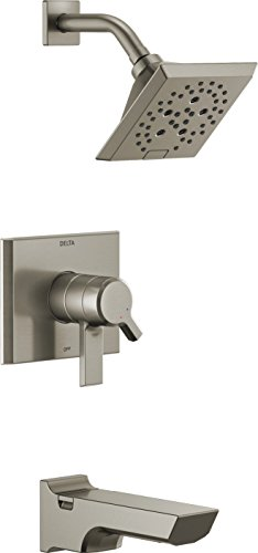 (Delta Faucet T17499-SS Pivotal Monitor 17 Series Tub & Shower Trim, Stainless)