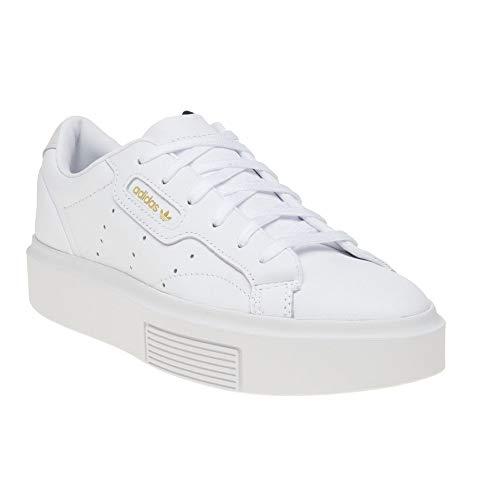 Sleek Trainer - adidas Women's Sleek Trainers, Weiß Footwear Crystal White 0, 8 UK