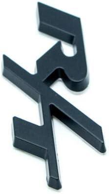 TM Matte Black Metal RT Car Emblem 3D R//T Rear Tailgate Trunk HEMI Badge for Dodge KuierShop